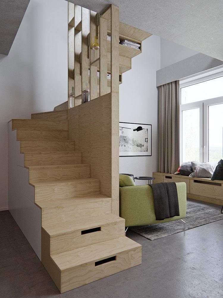 Soluzioni salvaspazio per una casa piccola n.03