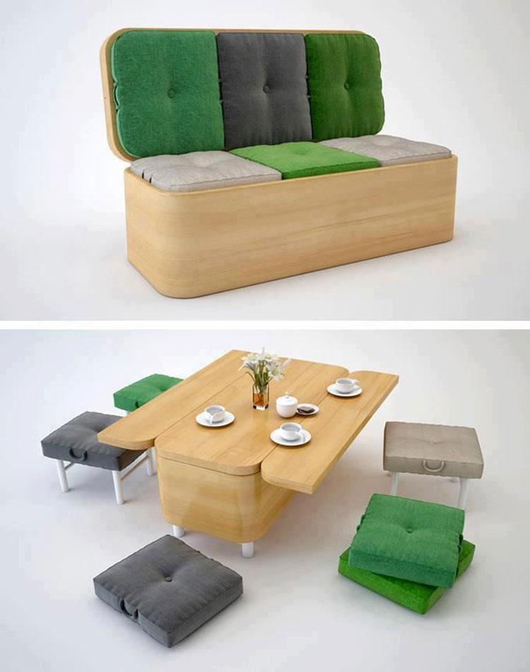 Sofa tavolo salvaspazio