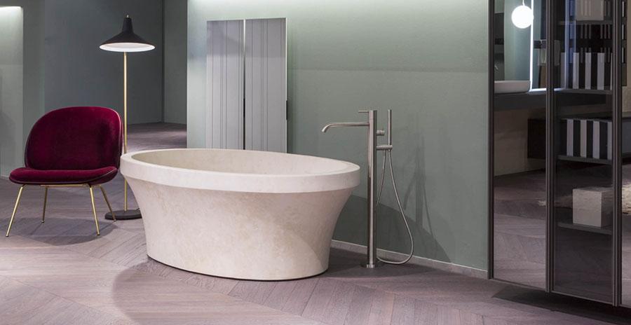 Vasca da bagno a libera installazione di Antonio Lupi n.02