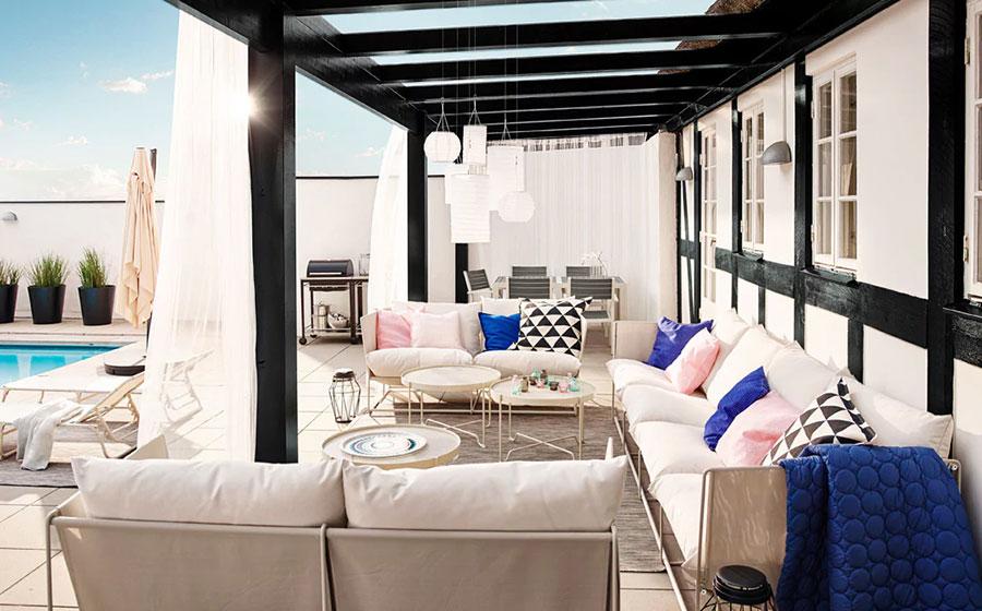 28 idee per arredare un terrazzo ikea for Ikea ombrelloni terrazzo