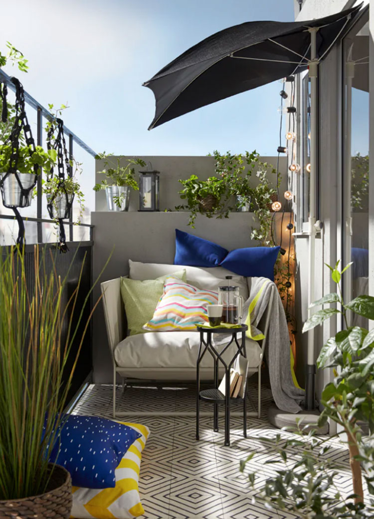 28 idee per arredare un terrazzo ikea