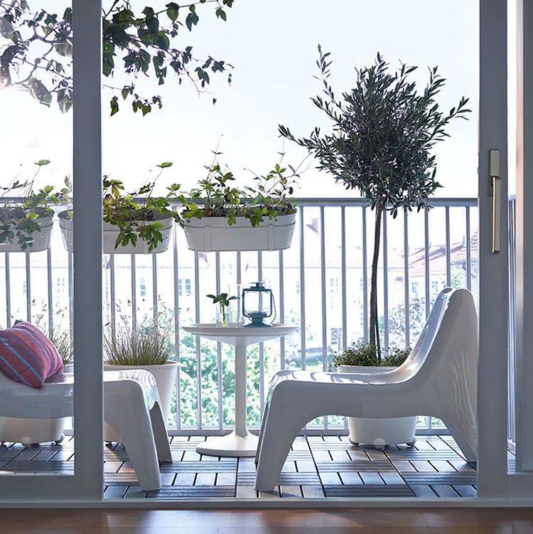 Idee per arredare un balcone Ikea n.14