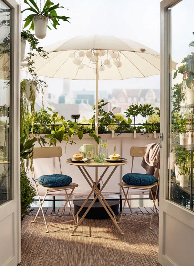 Idee per arredare un balcone Ikea n.15