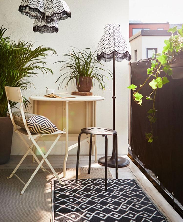 Idee per arredare un balcone Ikea n.16