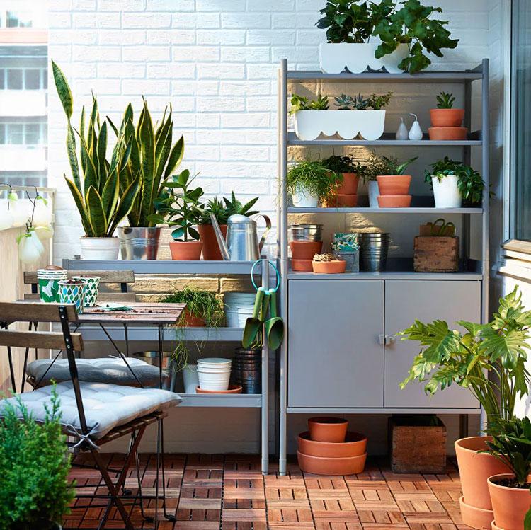 Scaffalature per terrazzo Ikea 2