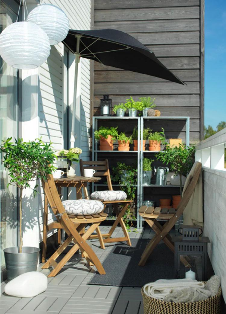 Idee per arredare un balcone Ikea n.18