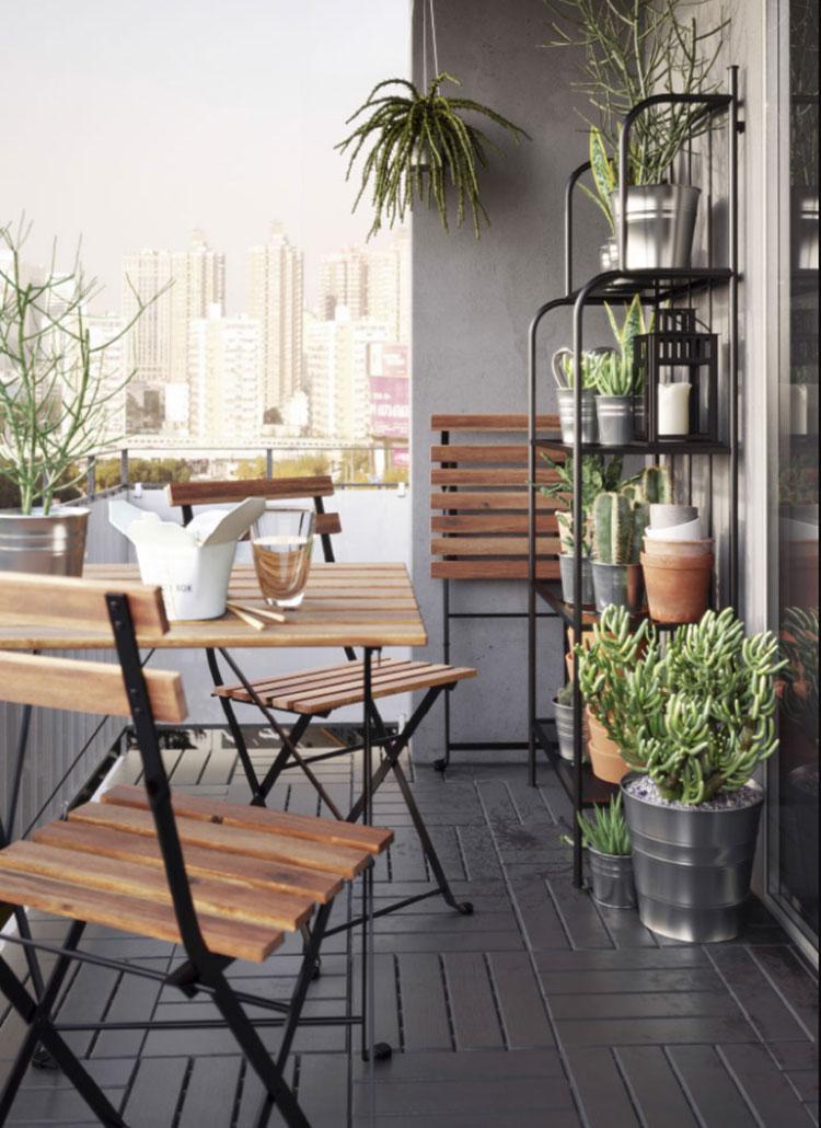 Idee per arredare un balcone Ikea n.20