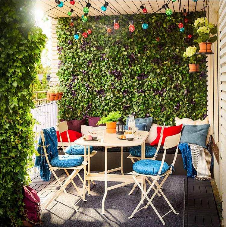 Idee per arredare un balcone Ikea n.24
