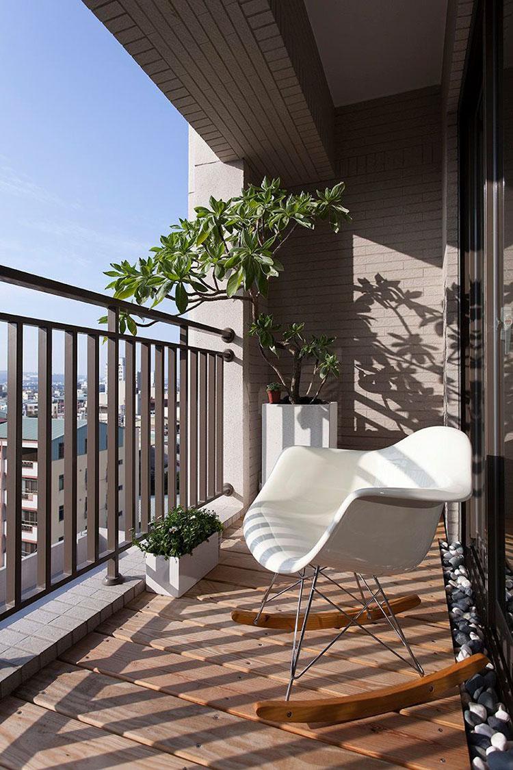 Idee su come arredare un balcone stretto e lungo n.07