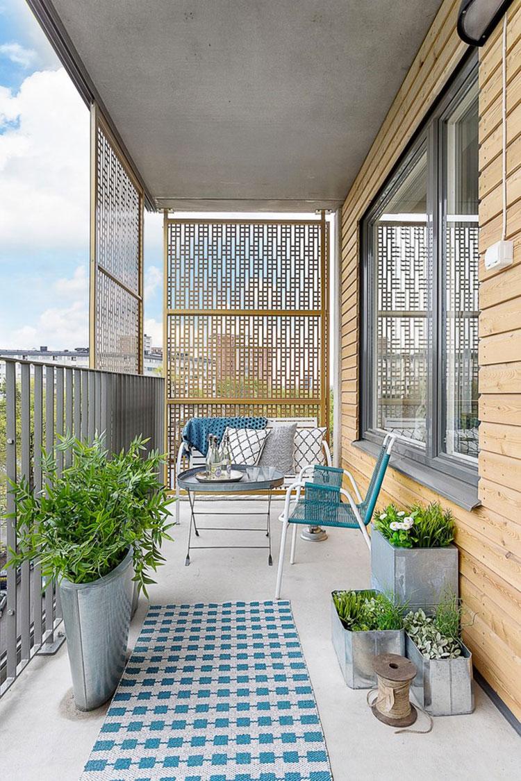 Idee su come arredare un balcone stretto e lungo n.10