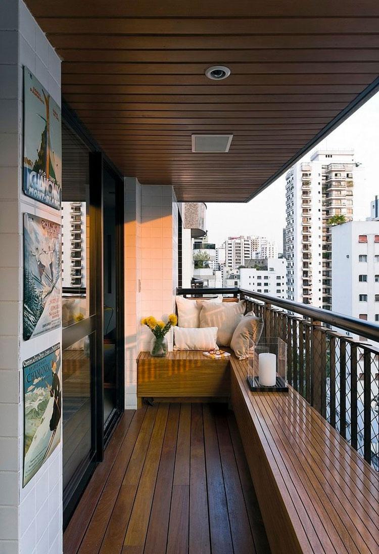 Idee su come arredare un balcone stretto e lungo n.11