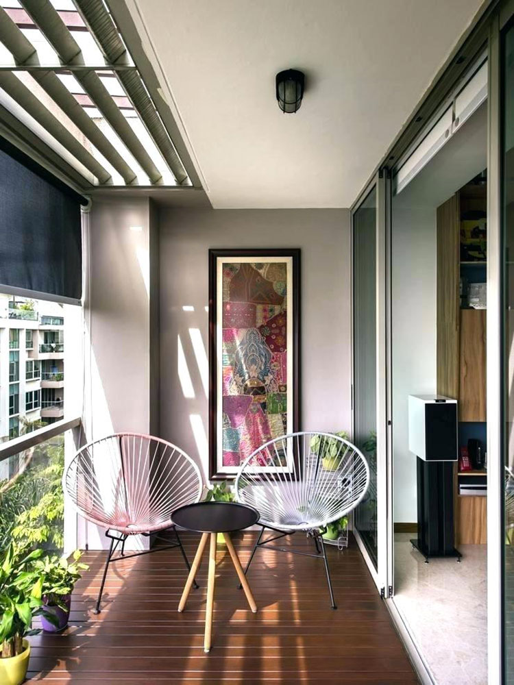 Idee su come arredare un balcone stretto e lungo n.12