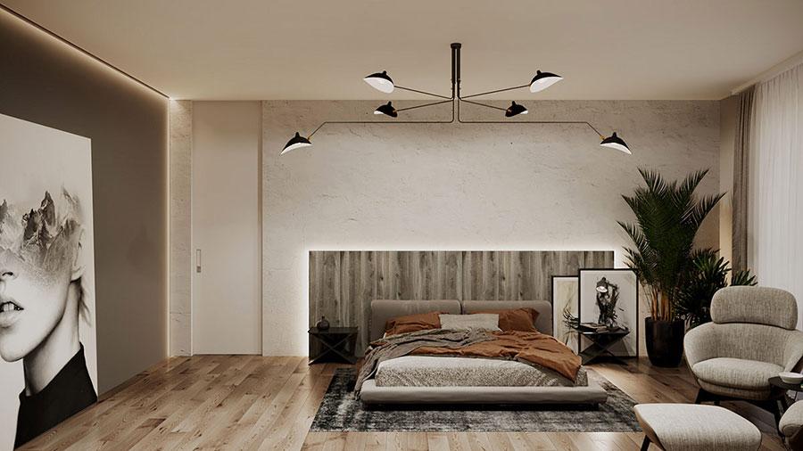 Arredamento grigio perla per la camera da letto n.01