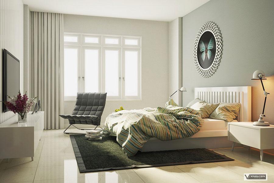 Arredamento grigio perla per la camera da letto n.06