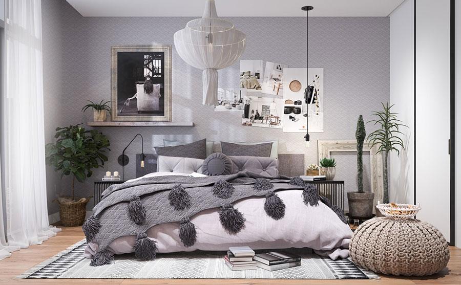Arredamento grigio perla per la camera da letto n.15