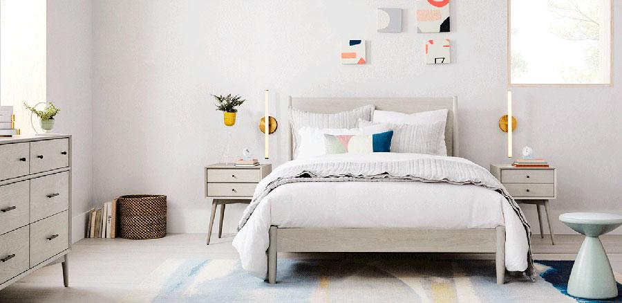 Arredamento grigio perla per la camera da letto n.20