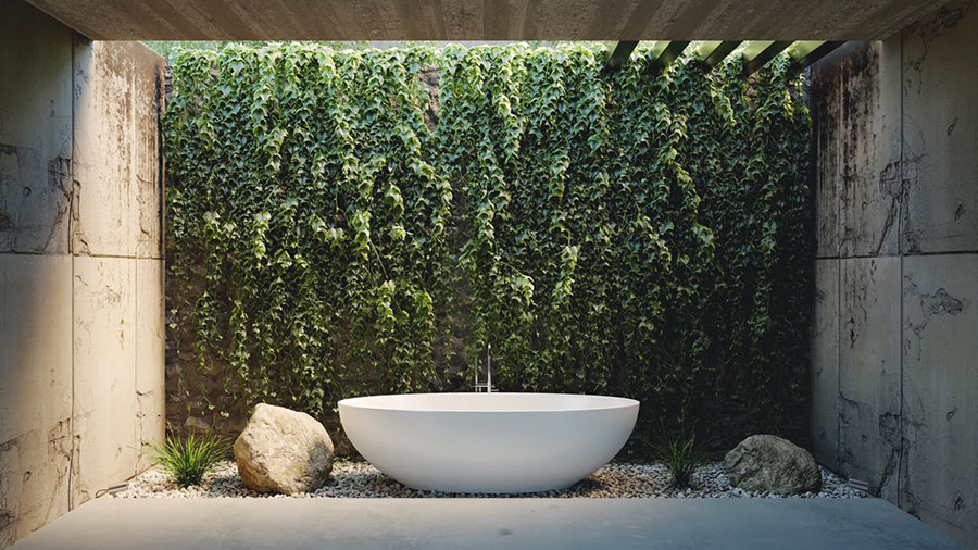 Idee per decorare il bagno n.12