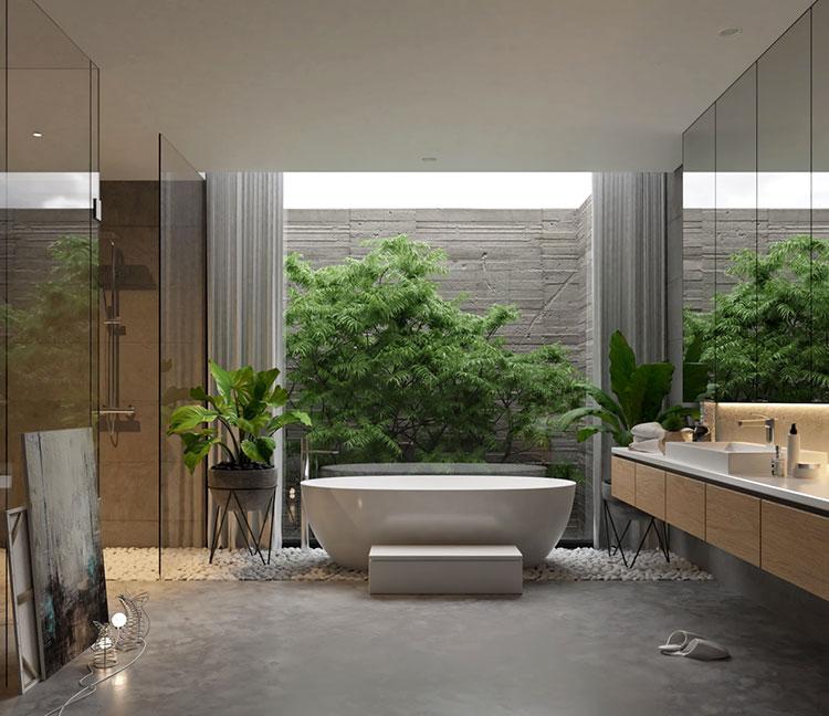 Idee per decorare il bagno n.15