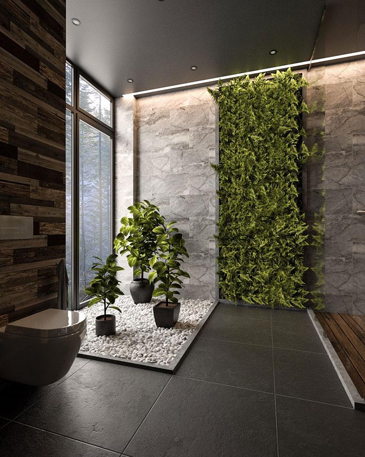 Idee per decorare il bagno n.16