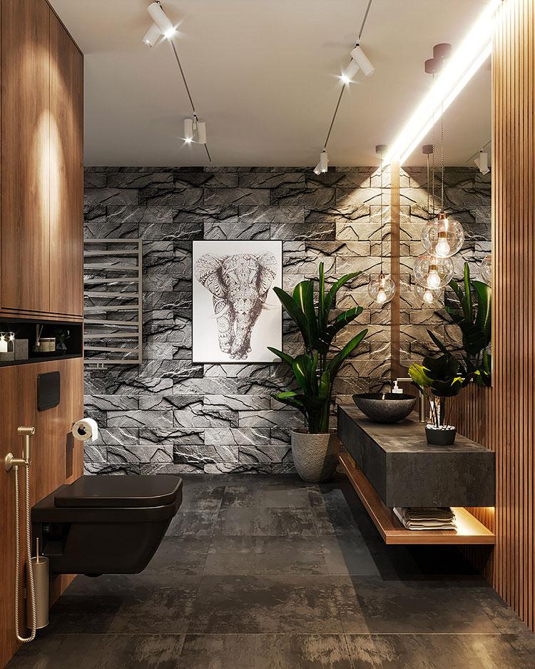 Idee per decorare il bagno n.23