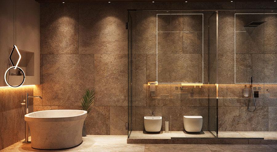 Idee per decorare il bagno n.26
