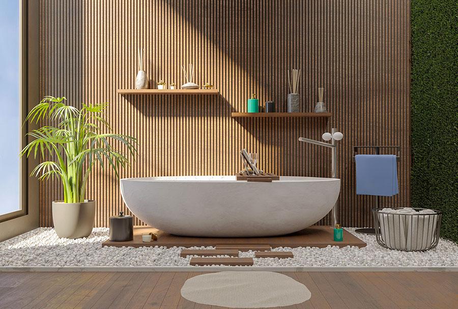 Idee per decorare il bagno n.30