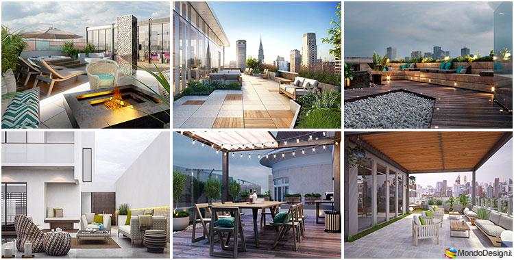 Terrazzo moderno 30 idee per un arredamento di design for Arredo terrazzi