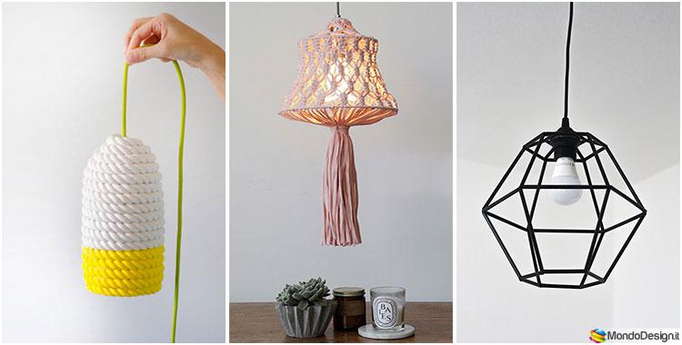 Paralume fai da te 30 idee con tutorial semplici e for Idee design fai da te