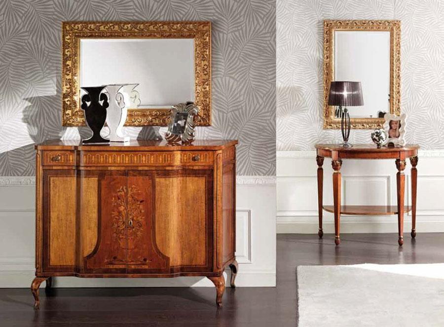 Modello di specchio per ingresso classico n.3