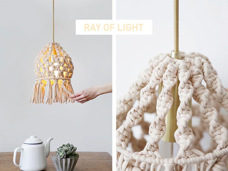 Come creare un paralume fai da te con la lana n.1