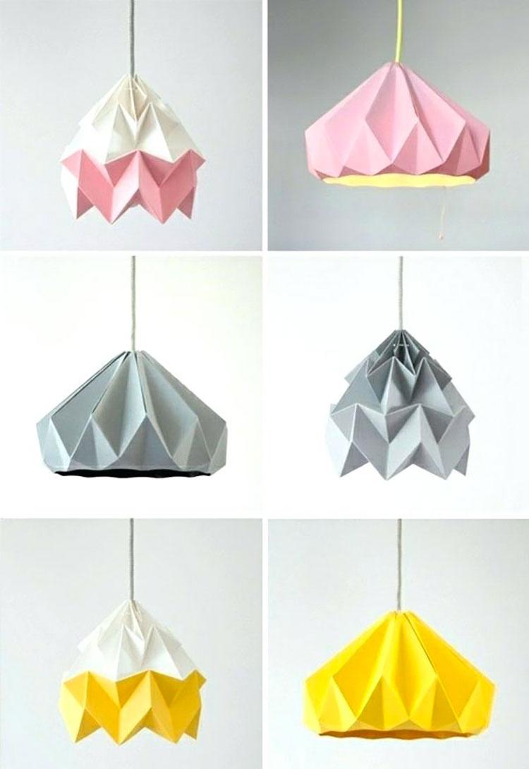 Come creare un paralume fai da te con origami 2