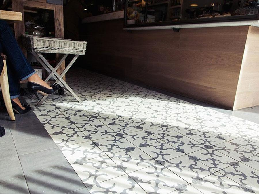 Modello di pavimento in cemento per cucina classica n.1
