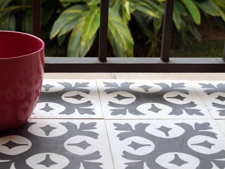 Modello di pavimento in cemento per cucina classica n.2