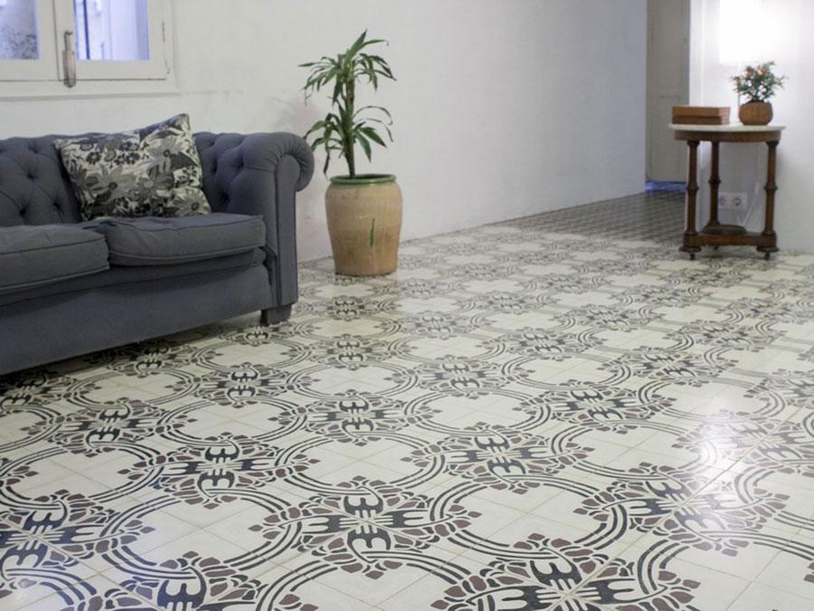 Modello di pavimento in cemento per cucina classica n.5