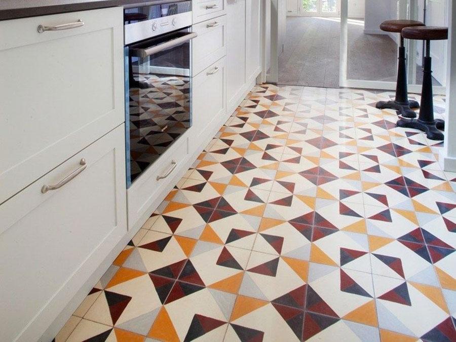 Modello di pavimento in cemento per cucina classica n.7