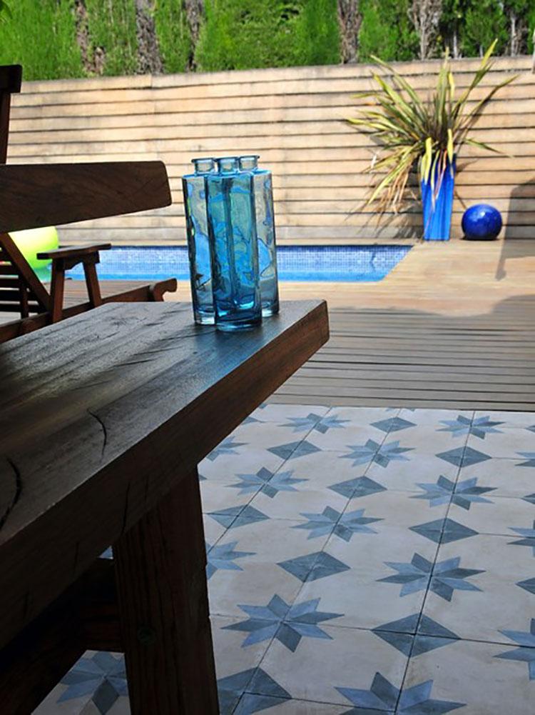 Modello di pavimento in cemento per cucina classica n.8
