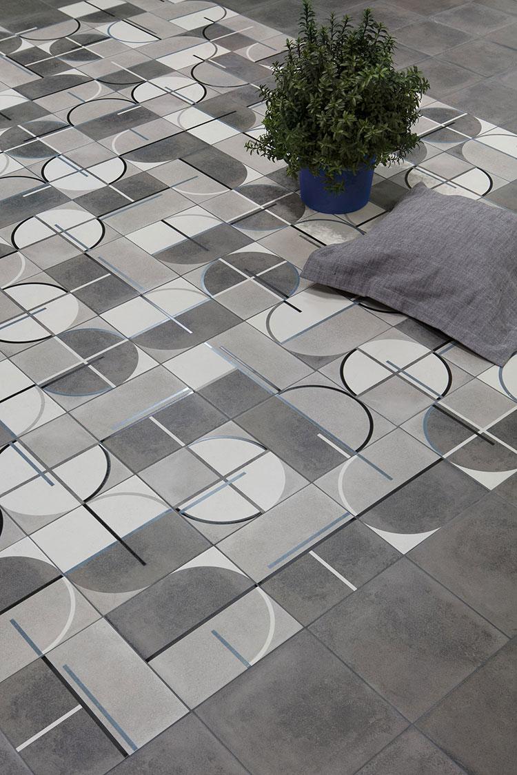 Modello di pavimento in ceramica per cucina classica n.10