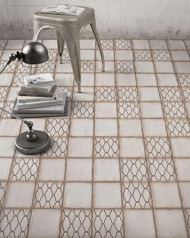 Modello di pavimento in ceramica per cucina classica n.11