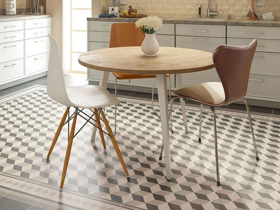 Modello di pavimento in ceramica per cucina classica n.4