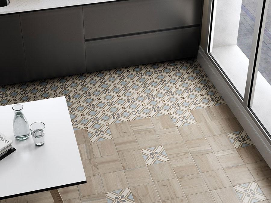 Modello di pavimento in ceramica per cucina classica n.5