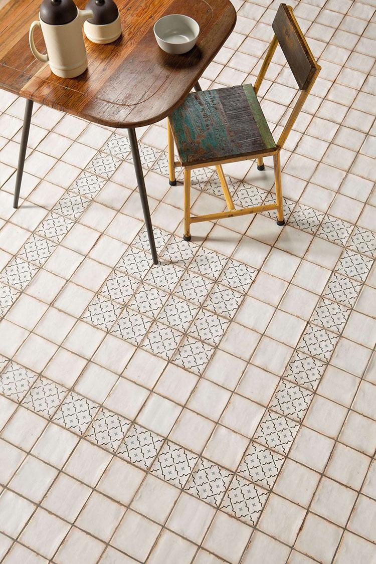 Modello di pavimento in ceramica per cucina classica n.9