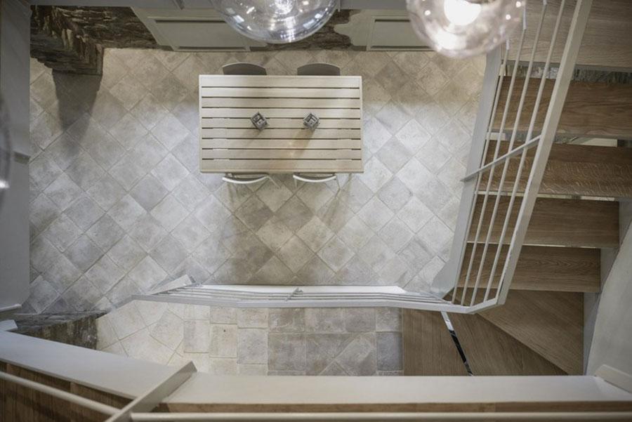 Modello di pavimento in cotto per cucina classica n.2
