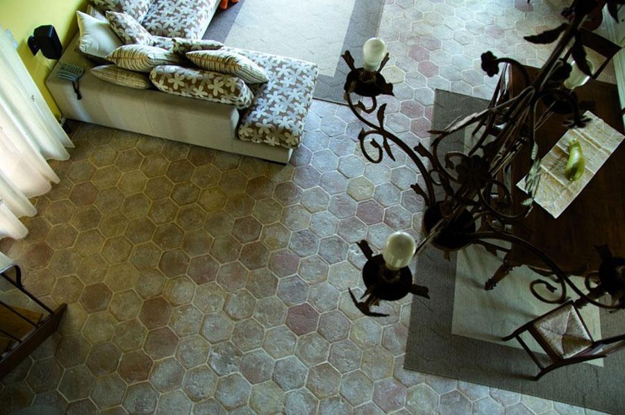 Modello di pavimento in cotto per cucina classica n.3