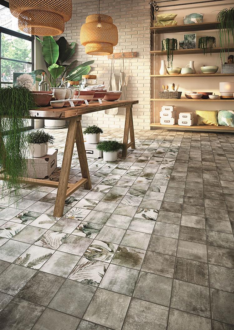 Modello di pavimento in gres porcellanato per cucina classica n.1