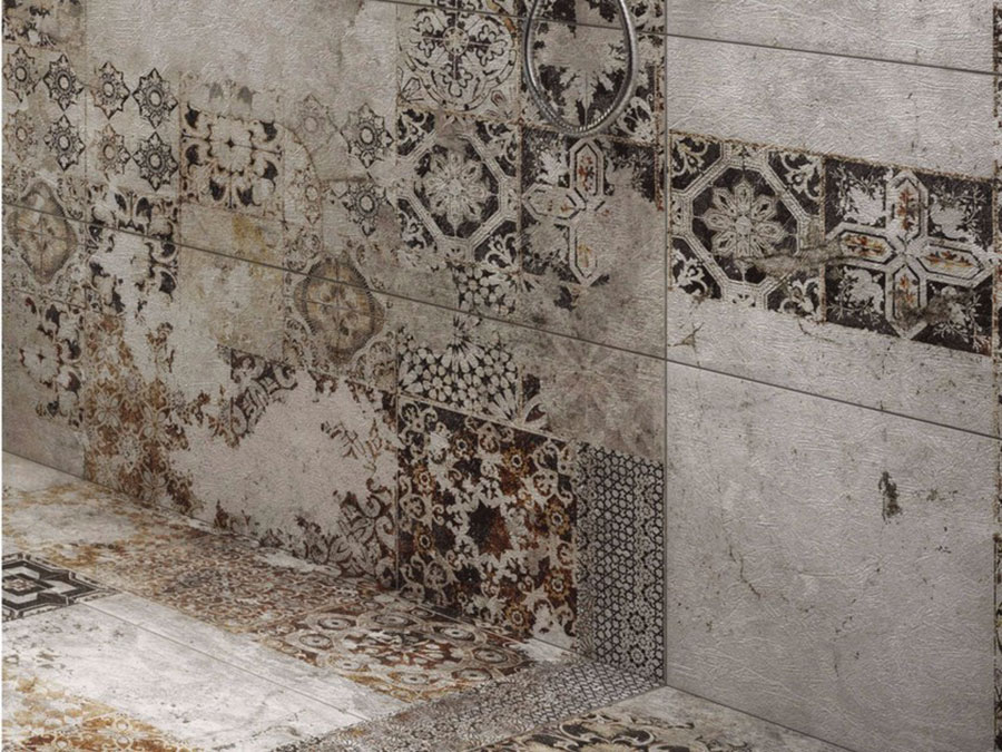 Modello di pavimento in gres porcellanato per cucina classica n.10