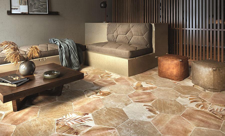 Modello di pavimento in gres porcellanato per cucina classica n.2