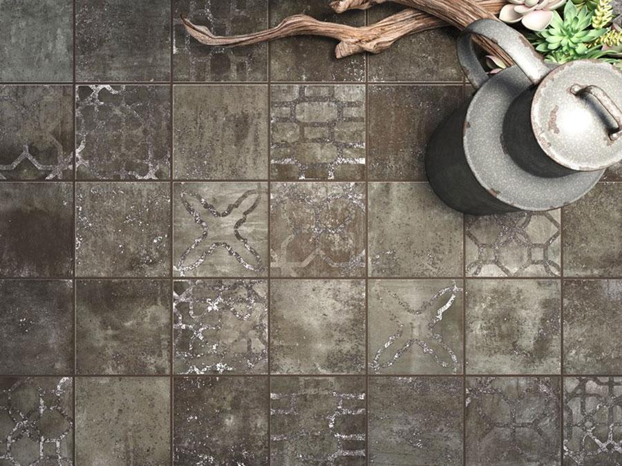 Modello di pavimento in gres porcellanato per cucina classica n.3