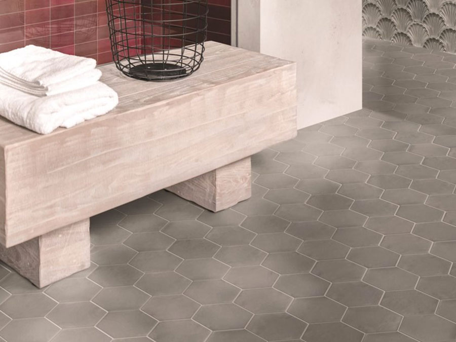 Modello di pavimento in gres porcellanato per cucina classica n.7