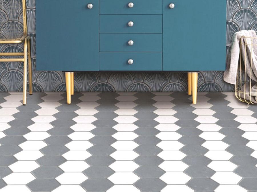 Modello di pavimento in gres porcellanato per cucina classica n.9