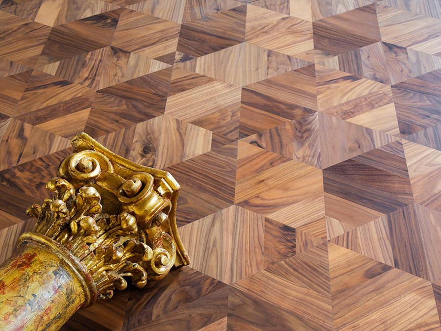 Modello di pavimento in legno per cucina classica n.3